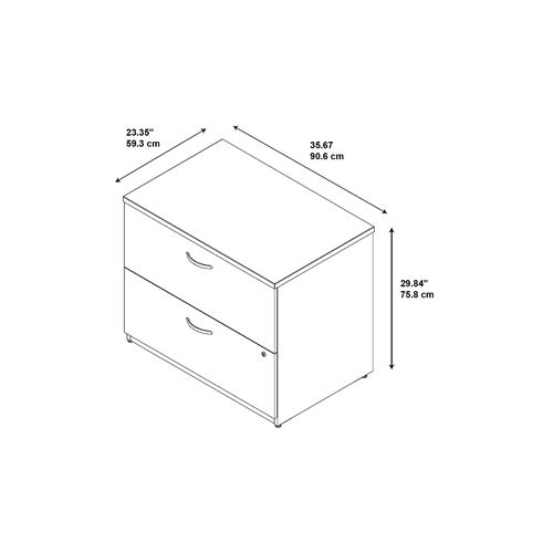 Bush Office In An Hour Lateral File Cabinet OIAH011MRSU