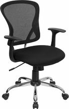 Flash Furniture Black Mesh Back Office Chair