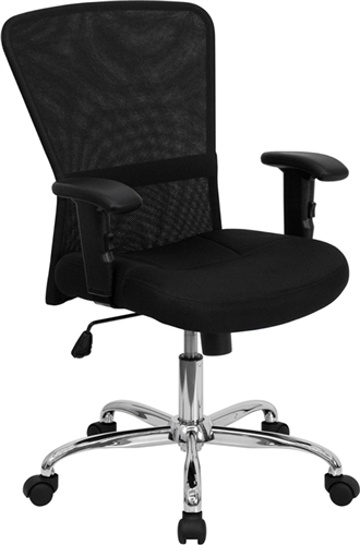 Flash Furniture Black Mesh Office Chair with Chrome Base
