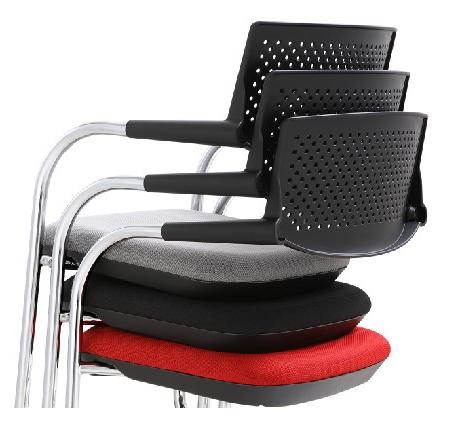 2 Pack of Woodstock Marketing Shankar Series Red Guest Chairs
