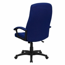 Flash Furniture Blue Fabric High Back Swivel Chair