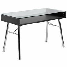 Flash Furniture Brettford Desk with Tempered Glass Top