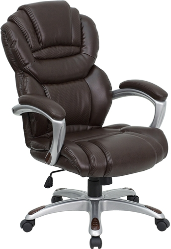 Flash Furniture Brown Leather Executive Office Chair