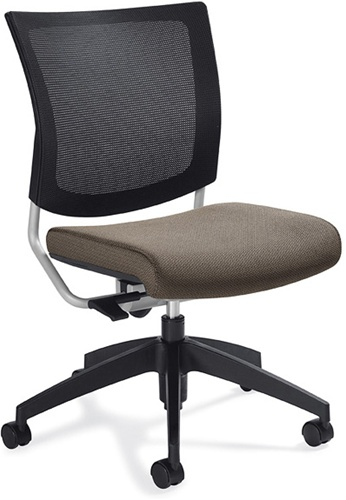 Global Graphic Armless Mesh Back Office Chair 2736MB