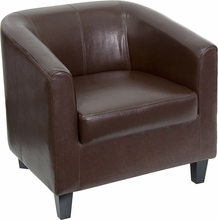 Flash Furniture Brown Leather Office Guest Chair / Reception Chair