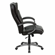 Flash Furniture Brown Leather Office Swivel Chair