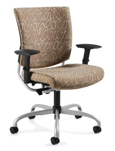 Global Graphic Series Fabric Ergonomic Office Chair 2739