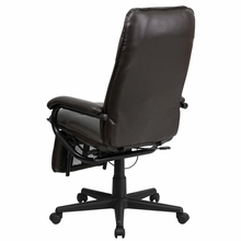 Flash Furniture Brown Leather Reclining Office Chair