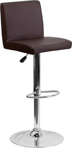 Flash Furniture Brown Vinyl Armless Bistro Style Bar Stool