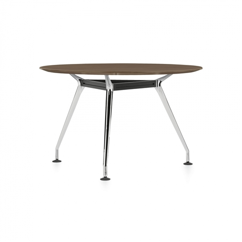 "Global Kadin 36"" Round Meeting Table with 3-Leg Base LKD36DIA"