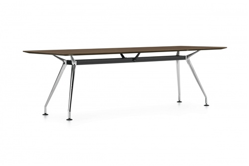 Global Kadin 7' Rectangular Conference Table with Chrome Legs