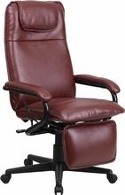 Flash Furniture Burgundy Leather Reclining Office Chair BT-70172-BG-GG