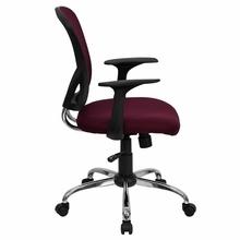 Flash Furniture Burgundy Mesh Back Computer Chair
