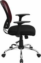 Flash Furniture Burgundy Mesh Back Office Chair