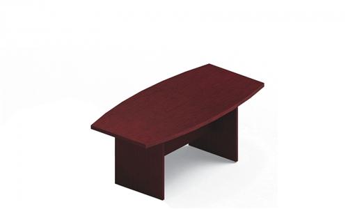 Global Laminate Boardroom Table GCT6BXBU with Quartered Mahogany Finish