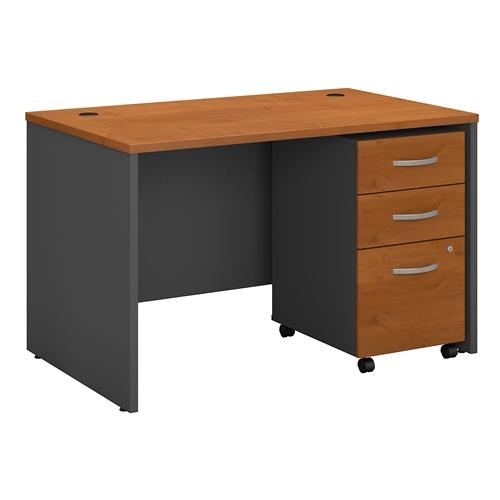 "Bush Series C 48"" Desk with Mobile BBF Pedestal"