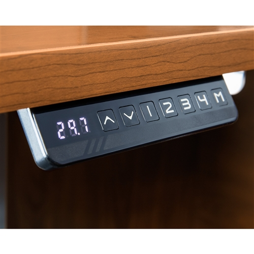 Bush Series C 60W Height Adjustable Standing Desk with Credenza and File Pedestal SRC106