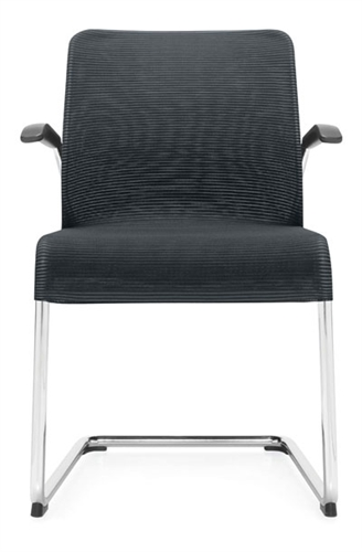 Global Lite Series 5944 Sled Base Mesh Guest Chair with Arms (24 Color Options Available!)