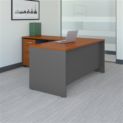 Bush Series C 66W L Shaped Desk with 48W Return and Mobile File Cabinet SRC083 (7 Finishes!)