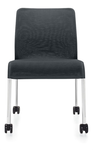 Global Lite Series Armless Mesh Side Chair with Casters (24 Color Options Available!)