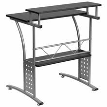 Flash Furniture Clifton Series Modern Computer Desk with Black Surface