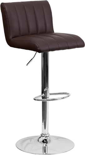 Flash Furniture Contemporary Brown Vinyl Bar Stool