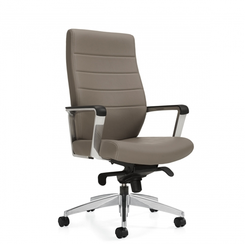 Global Luray 6461LM-2 High Back Office Chair with Knee Tilter Mechanism