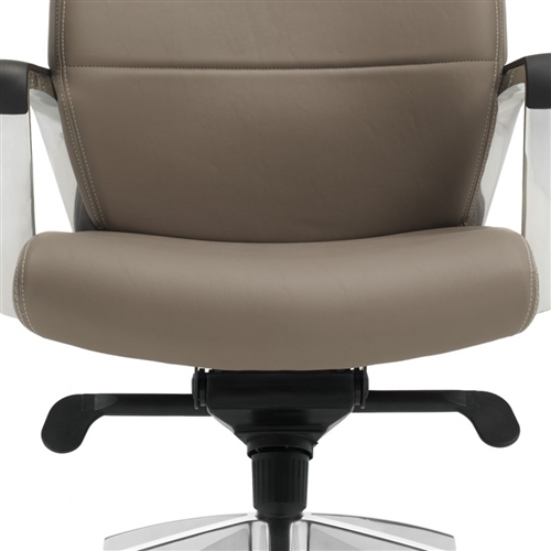 Global Luray 6462LM-2 Leather Office Chair with Knee Tilt Mechanism