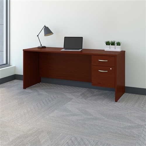 Bush Series C 72W x 24D Credenza Desk with Pedestal SRC070