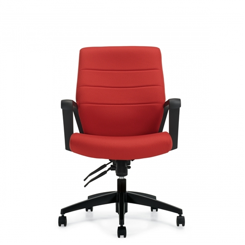 Global Luray Mid Back Leather Conference Chair 6462LM-4