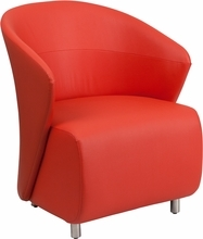 Flash Furniture Contemporary Red Leather Reception Chair ZB-6-GG