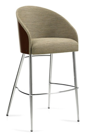 Global Marche Contemporary Curved Back Bar Stool 8622S