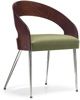 Global Marche Contemporary Curved Wood Back Side Chair 8621