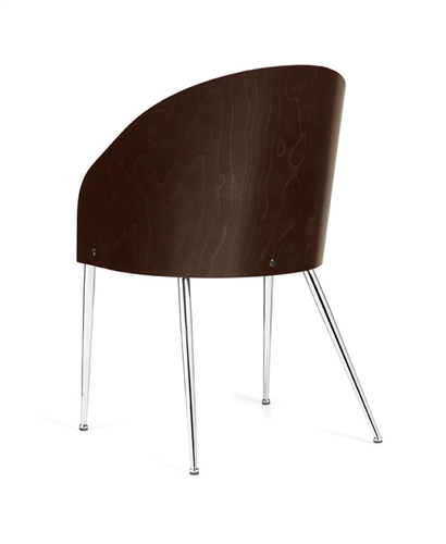 Global Marche Contemporary Curved Wood Guest Reception Chair 8624