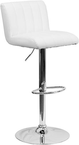 Flash Furniture Contemporary White Vinyl Bar Stool