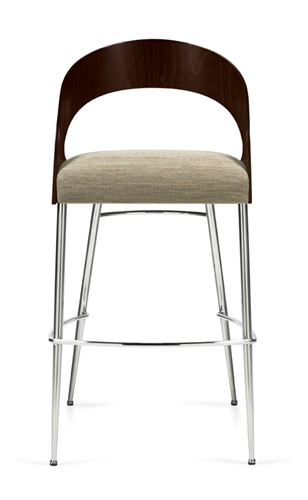 Global Marche Series Curved Wood Back Bar Stool 8621S