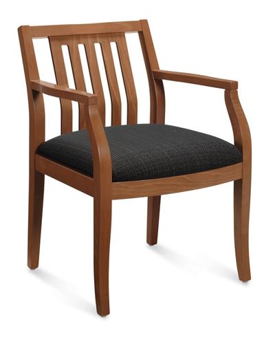 Global Mayne Series Vertical Wood Slat Armchair 8336T