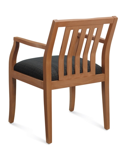 Global Mayne Series Vertical Wood Slat Armchair 8336T