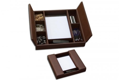 Dacasso Chocolate Brown Enhanced Conference Room Organizer A3490