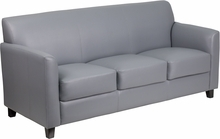Flash Furniture Diplomat Gray Leather Waiting Room Sofa