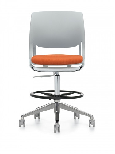 Global Novello Armless Modern Drafting Chair 6411