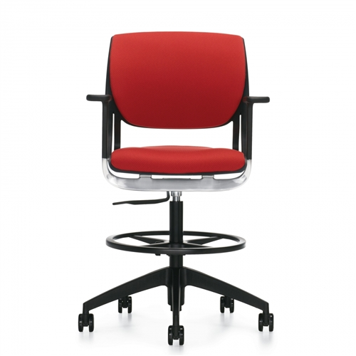 Global Novello Full Upholstered Modern Drafting Chair 6412