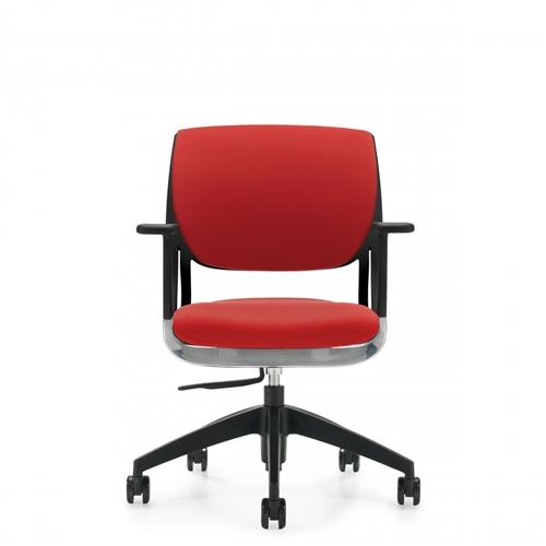 Global Novello Series Fully Upholstered Modern Office Chair 6402