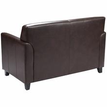 Flash Furniture Diplomat Series Brown Leather Love Seat