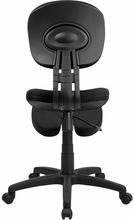 Flash Furniture Ergonomic Kneeling Posture Task Chair in Black Fabric