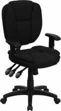 Flash Furniture Ergonomic Mid Back Black Task Chair