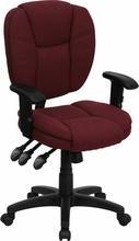 Flash Furniture Ergonomic Mid Back Burgundy Computer Chair