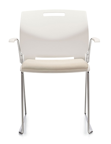 Global Popcorn 6712 Stack Chair with Upholstered Seat