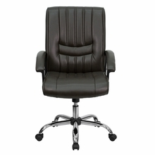 Flash Furniture Espresso Brown Leather Managers Chair