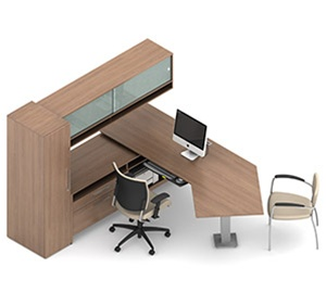 Global Princeton Modern Wall Desk Layout A1R